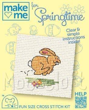 Mouseloft Bunny Make Me For Springtime cross stitch kit